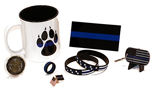 Police K9 Dog Paw Coffee Cup with Police Gifts and Challenge Coin