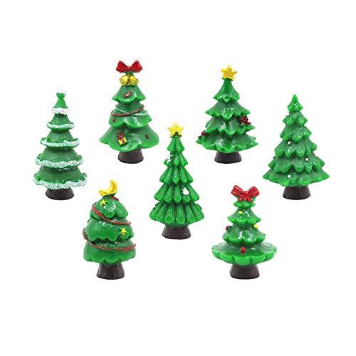 EMiEN - Juego de 7 Piezas de Adornos en Miniatura para decoración de casa de muñecas de jardín de Hadas, decoración de Navidad, Accesorios de jardín de Hadas, Accesorios para decoración de casa