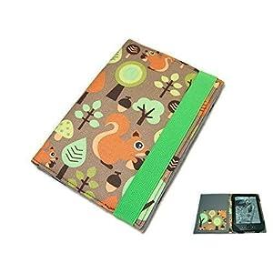 aufklappbare eBook Reader eReader Hülle Eichhörnchen, Maßanfertigung, z.B. für Kindle, Samsung Galaxy Tab, Sony…