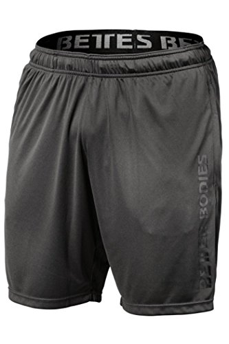 Better Bodies Herren Loose Function Shorts Kurze Hose, dunkel grau, M
