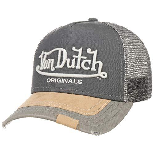 Von Dutch Premium Logo Trucker Cap Basecap Baseballcap Meshcap Snapback Truckercap (One Size - grau)