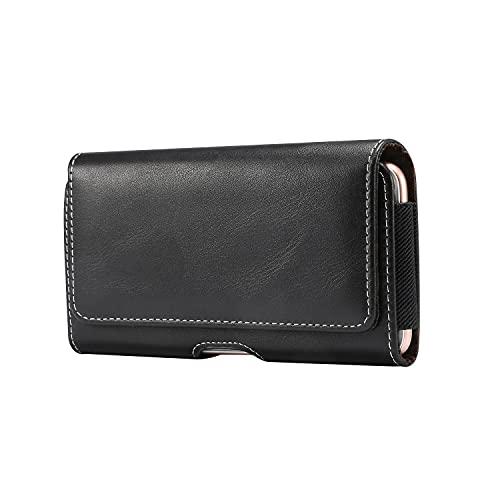 ZHIWEI Bolso de un teléfono portátil para iPhone 12 Pro, 11, XR Phone Pouch Funda, Funda de Cuero Premium con la Funda del teléfono con Bucle de cinturón para Samsung S20 5G, S20, S10,9,8, S7 Edge