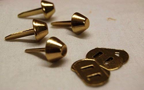 Celloexpress® 10mm Gold flach mit Rücken–Tasche & Geldbörse Füße mit Rücken–Flacher boden Handtasche Ohrstecker–BAG & Basteln, gold