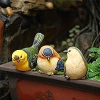 Nwn レジン鳥像工芸オーナメントガーデンホームデコレーションの3点セット