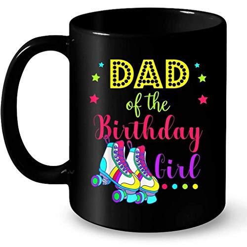 N\A Let 's Roll papá de la cumpleañera Patinaje sobre Ruedas cumpleaños Divertido de la niña Patinadora papá - café Negro Taza