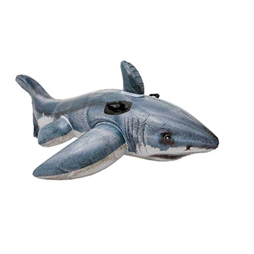 Intex Great White Shark Ride-On - Aufblasbarer Reittier - 173 x 107 cm