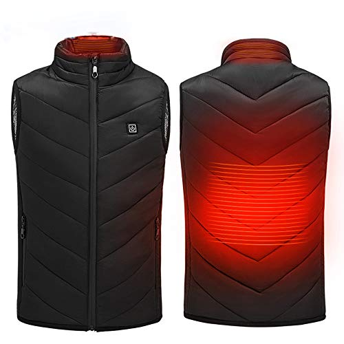 XNJHMS USB Electric Heated Vest Heating Men/Women Waistcoat Thermal Warm Clothing Feather Heated Jacket Technology, Plus Size S-8XL,L