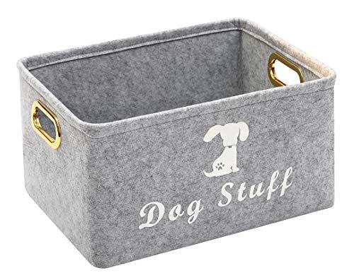 Morezi Aufbewahrungsbehälter für Haustier-Spielzeug und Zubehör, aus Filz, ideal für die Organisation von Haustier-Spielzeug, Decken, Leinen und Futter
