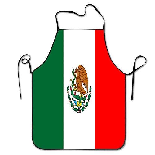 Not Applicable Mexiko Flagge Chef Schürze BBQ Grill Schürze - Lustige Küche Kochschürze für Männer und Frauen