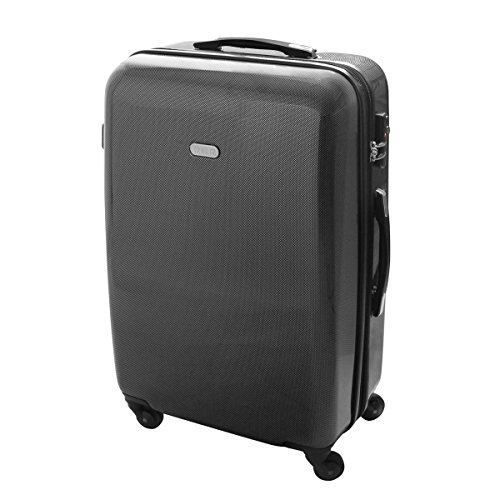 XL Hartschalen Reise Koffer Trolley TSA 80 Liter Carbon Style 820