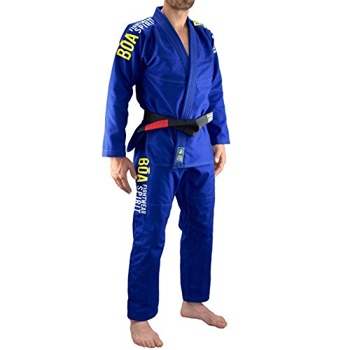 Bõa BJJ GI Tudo Bem Blue 2.0, Kimonos (Brazilian Jiu Jitsu) Hombre, Azul, A1
