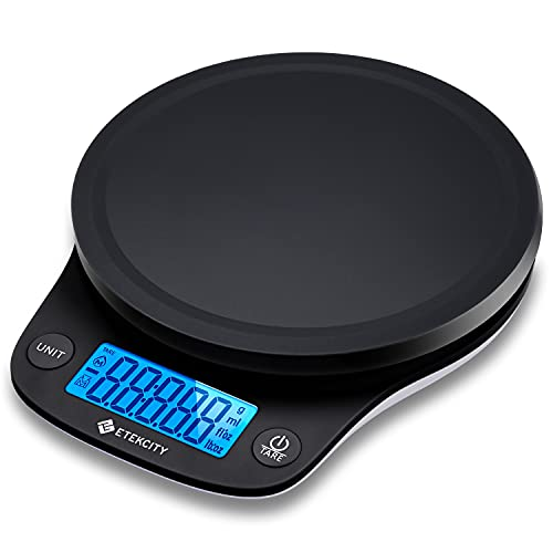 Etekcity 0.1g Food Kitchen Scale, Digital Ounces and Grams for Cooking, Baking, Meal Prep, Dieting, and Weight Loss, 11lb/5kg, Black