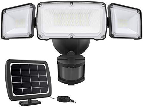 LEPOWER 1600LM LED Solar Security Lights Motion Outdoor Super Bright Solar Motion Sensor Light product image