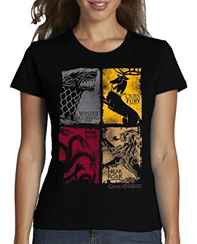 The Fan Tee Camiseta de Mujer Juego de Tronos Stark Tyrion Dragon Daenerys Khaleesi Valar...