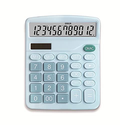 Preciso Calcolatrice, Funzione standard Electronics Scientific Electronics Desktop Calculatori, Dual Power, Big Button 12 Digita Ampio display LCD grande, palmare per ufficio quotidiano e di base Dure