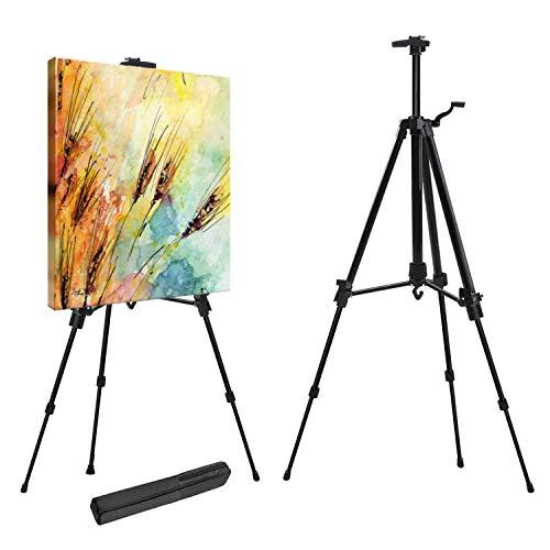 Easel Art Stand for Artist 52cm-162cm Adjustable Aluminium Portable Table &...