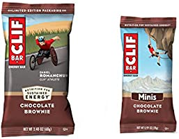 Clif Bars - Chocolate Brownie - 10 Full Size and 10 Mini Energy Bars - Made with Organic Oats - Plant Based Food -...