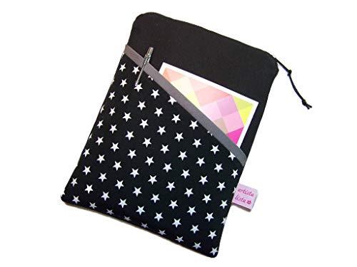 eReader Tablet Tasche Star schwarz eBook Reader Hülle, Maßanfertigung bis max....