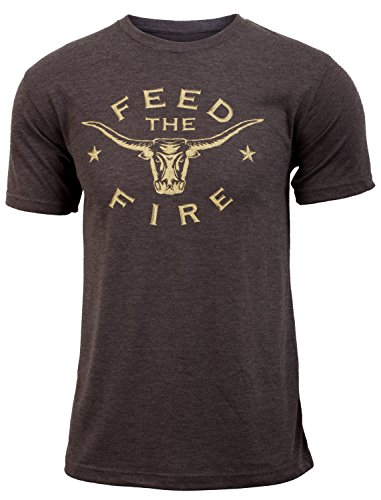 Jumpbox Fitness Feed The Fire (Eat Beef) - Coffee Brown - Men's Triblend Funny Workout T-Shirt - http://coolthings.us