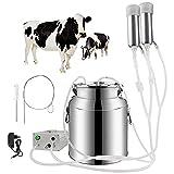 SKYWPOJU Kit de máquina de ordeño, Kit de ordeño de Vacas y ovejas de Cabra. Máquina de ordeño de pulsos eléctrica portátil. Máquina de ordeño de pulsaciones portátil (Color : Cattle, Size : 14L)