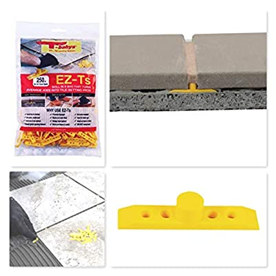 """T-BABYS - EZ-Ts DIY Leave-in Tile Leveling Grout Spacers 1/4"""" - 250ct"""