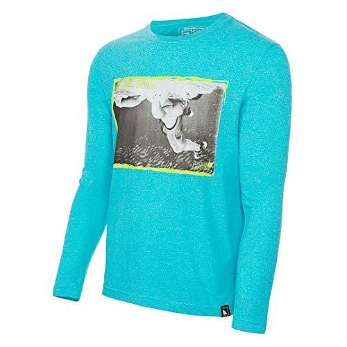 Trangoworld Fear T-Shirt, Homme XL Bleu-Vert