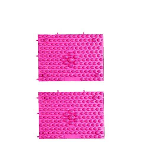 shentaotao 2st 29x39cm Anti-rutsch-fußmassage Mat Akupressur Fußreflexzonenmassage Gehen Toe Platte Yoga Pad (Rose Red Purple) Gesundheit Und Schönheit