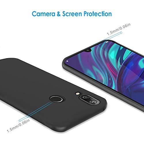 Ferilinso Hülle für Huawei Y7 Prime 2019/ Huawei Y7 Pro 2019/ Huawei Y7 2019, Flexible stoßfeste Schutzhülle für Huawei Y7 Prime 2019/ Huawei Y7 Pro 2019/ Huawei Y7 2019 Hülle (Schwarz) - 2