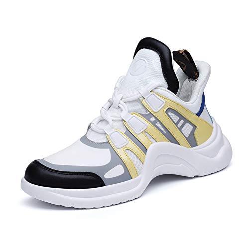 Willsky Chaussures de Sport pour Femmes, Formateurs légers Fitness Occasionnel Course à Pied Sport Marche à Pied Jogging Baskets athlétiques,Yellow,38