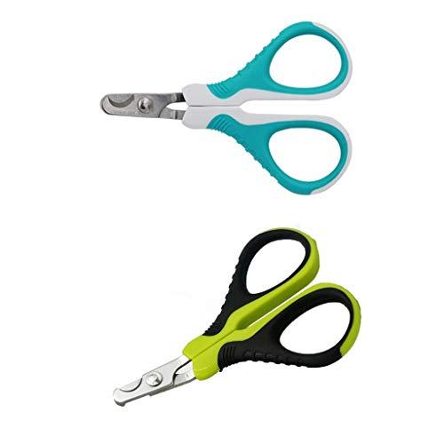 Pet Nail Clippers for Small Animals,2PCS Best Cat Nail Clippers & Trimmer for Paw Grooming,Claw Clippers Scissors & Nail Cutter for Cat,Dog,Rabbit,Bird,Ferret,Kitten,Puppy