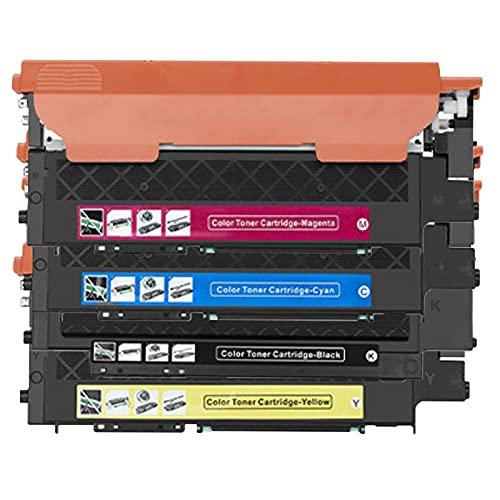 AZXC para Samsung CLT-510 Reemplazo de Cartuchos de tóner Compatible, con SL-C510 C51OW C513 C513W C563FW C563W SL-C515 C565FW Impresoras de Trabajo de Alto Rendimiento c 4 Color