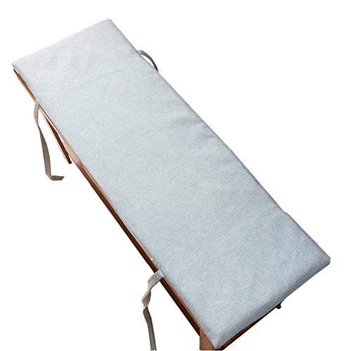 GWFVA Cojín de banco acolchado con revestimiento extraíble, 2 bancos de exterior de 3 plazas, cojín para silla de columpio, cojín para silla de jardín, cojín de repuesto
