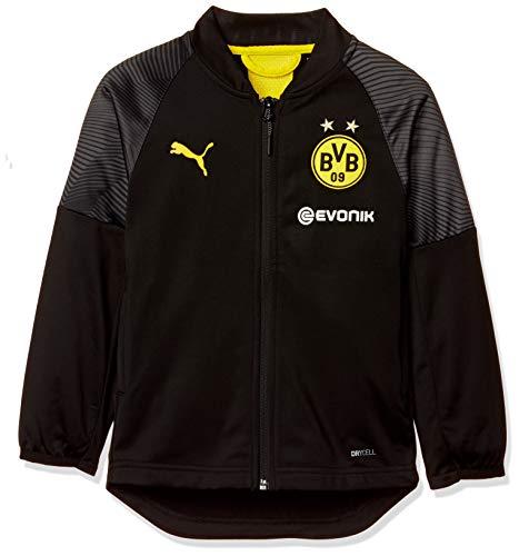 PUMA Kinder BVB Stadium Poly Jacket Jr with Sponsor Logo Trainingsjacke, Schwarz (Puma Black), 164 (Herstellergröße: XL)