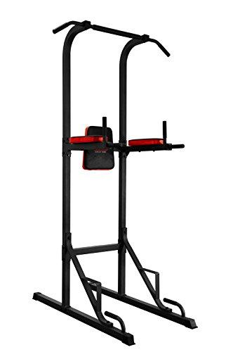 Body Sculpture Unisex The Power Multifunzione Torre, Nero/Rosso
