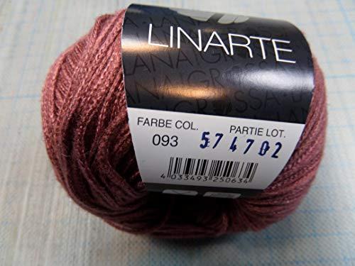 Nähkästchen-Gloor Lana Grossa Wolle Linarte je 50 g Farbe 93 Rosenholz