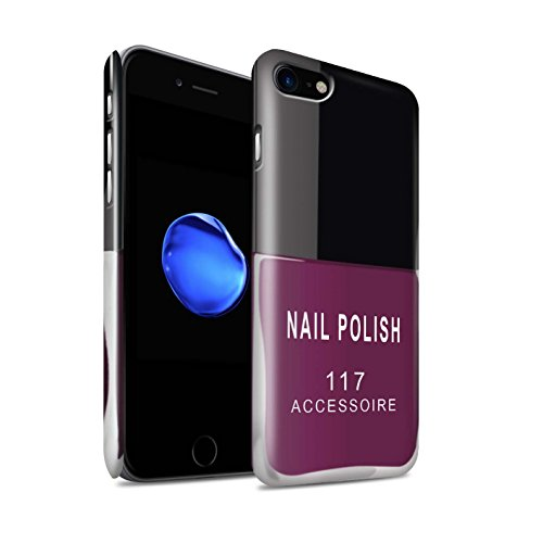 Gloss telefoonhoesje voor Apple iPhone SE 2020 nagellak/make-up roze ontwerp glanzend ultra slank dun hard snapcover