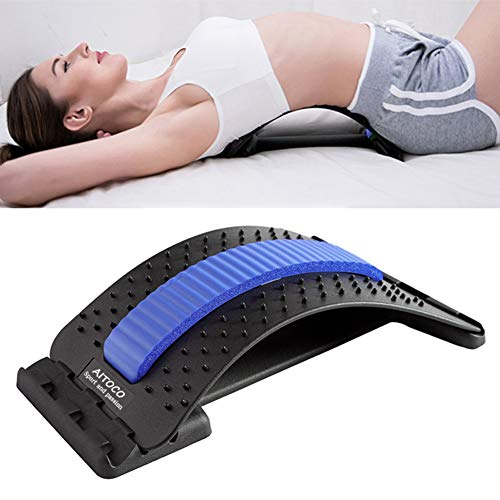 Rückenstrecker Rückendehner Back Stretcher, für Unter und Ober Lendenwirbelsäule Rückenschmerzen Linderung Massagegerät Stützausrüstung einstellbar