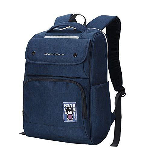 IUYWL Rosa Junge Studentin Rucksack, Wasserabweisender Freizeitreiserucksack Rucksack Mit Großem Fassungsvermögen Und Computerfach Rucksack (Color : Blue)
