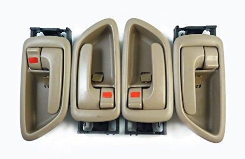 à l'intérieur de poignées de porte gauche + droite Beige Lot de 4 nouveaux 69206–0 C030-b0 pour Avalon- Modèle 2000–2004 Tundra- Modèle 2004–2006 Sequoia-model 2001–2007