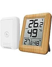 ORIA デジタル温湿度計 外気温度計 ワイヤレス 温度湿度計 室内 室外 一つセンサー