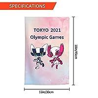 Xmbeirui 2021オリンピック旗 大日本帝国旗 Flag スポーツ用品 ポリエステル繊維素材 防水生地 装飾旗 旗 ガーデンフラッグ(30x45)オリンピック競技 Olympic Games2021fhj51