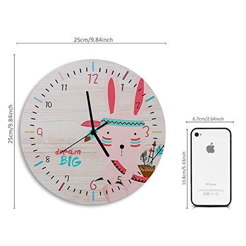 FPRW Regenboog Paard Wandklokken, Eenvoudig Leven Ontwerp Stille Klok, Huishoudelijke Cafe Office Woonkamer Art Grote Home Decor Horloge, Type 6