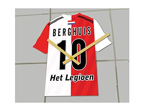 MyShirt123 Feyenord FC Football Club - Orologio da calcio per camicie da calcio, qualsiasi nome e qualsiasi numero – che si sceglie.