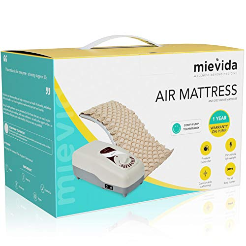 Mievida Anti Decubitus Air Bed including Air Mattress & Air Pump with Comfi Pump Technology for Prevention of Bed Sores – Biege