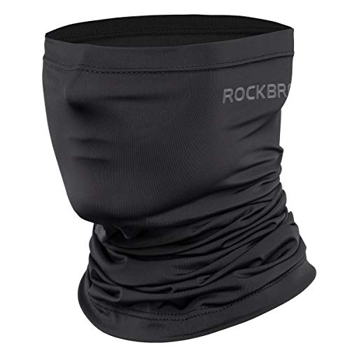 Cooling Neck Gaiter Bandana Face Mask for Men Neck Gaiters Summer Half Face Scarf Cover Sun UV Protection for Cycling Fishing Black