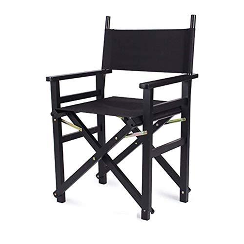 Klappstühle Massivholz Leinwand Director Chair Outdoor Klappstuhl Fishing Garden Outdoor Camping Chair Campingstühle (Farbe: Schwarz, Größe: Schwarzes Tuch)