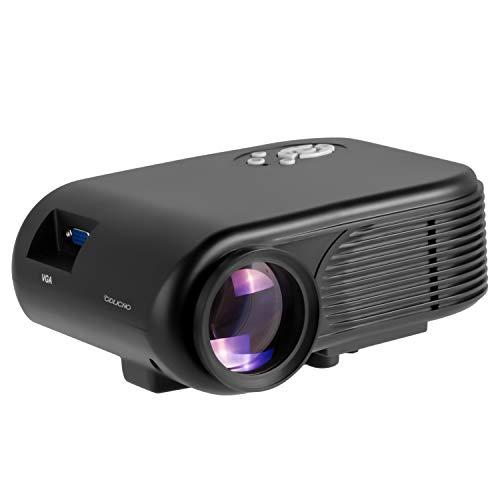ODLICNO Mini Proyector Portátil , Multimedia Proyector de Cine en casa, proyector Compatible con Full HD 1080P HDMI, VGA, Dual USB,...