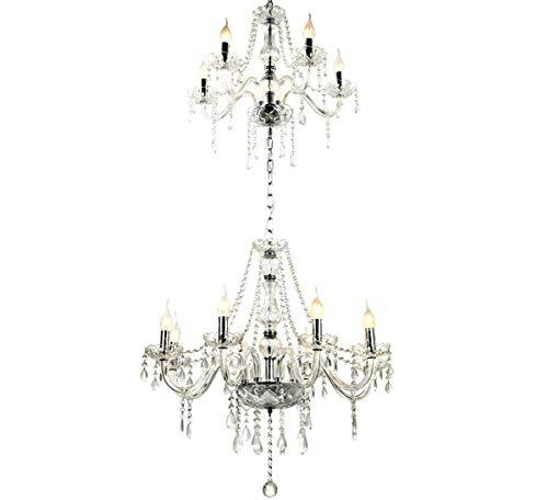 XXXL Großraum Glas Kronleuchter Kristall klassisch Hängeleuchte Decken Leuchte Pendel Lampe Lüster 66cm x 2m 13-Arm Lewima Armavir