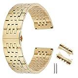 end eccellente curva braccialetto di sostituzione del cinturino in acciaio solido estremità diritta