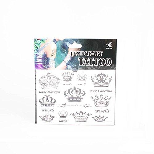 *Tattoos mit prunkvollen Kronen und Schrift